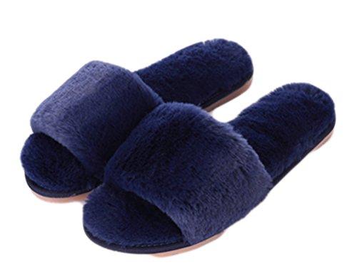 outdoor open sui donna Moda Marina toe indoor scarpe a Auspicious pantofola beginning Pattino piatta delle pattini invernale da peluche v6n4nxW
