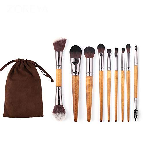 Make-up-Pinselset Portable Professional 9-TLG. Foundation Lidschatten Blush Concealer