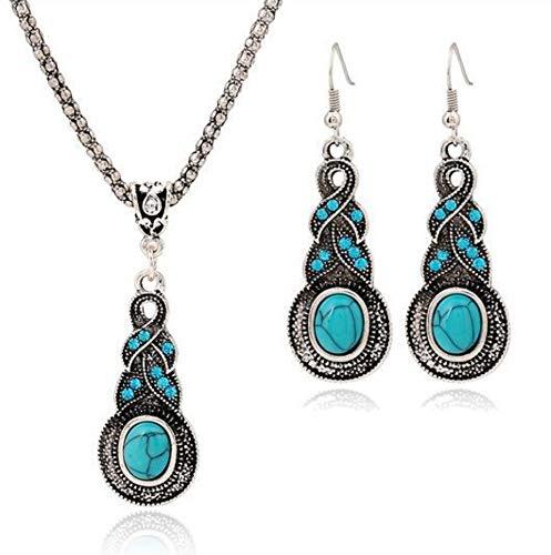 etro Thai Silber Türkis Halskette + Ohrring Set Türkis Halskette Set ()