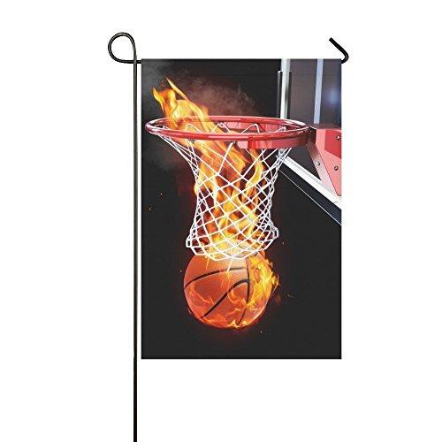 g Basketball Lange Polyester Garten Flagge Banner Fahne Deko 30,5x 45,7cm, Sport Fire Ball für Hochzeitstag/für Home Outdoor Garden Decor (Basketball-banner)