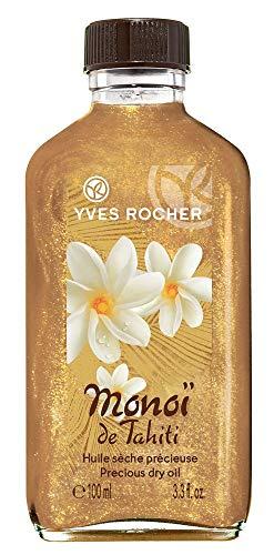 Yves Rocher MONOÏ schimmerndes Körper-Öl, pflegendes Feuchtigkeitsöl für Haut & Haare, mit Glitzer, 1 x Glas-Flacon 100 ml
