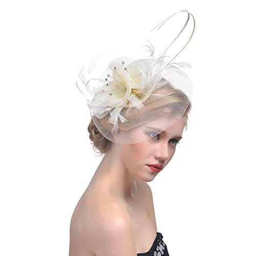BIANCO Natale Cappello donna Fascinator con da Donna Natale Costume Accessorio