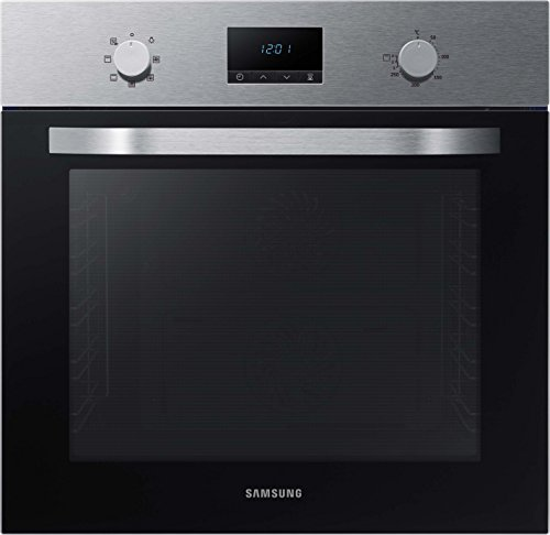 Samsung Dual Fan NV70K1340BS/EG Backofen (Elektro/Einbau)/56,6 cm/Katalyse Reinigung/Automatikprogramme/XXL-Garraum/Silber