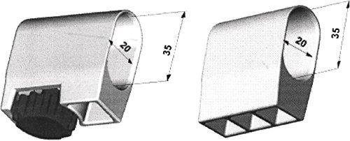 Mwh Fusskappe 20X35 mm weiss 4er