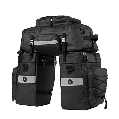 Fahrradtasche Multifunction Radfahren Gepäckträger Tasche Reißfest Groß Gepäcktaschen mit Regen-Abdeckung