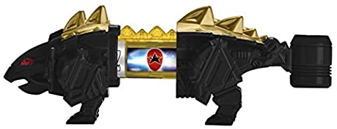 Power Rangers : Dino Super Charge – Ankylo Zord Noir – Pack de 2 Dino Chargers + 1 Mini Zord