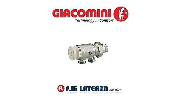 "GIACOMINI VALVOLA MONOTUBO RADIATORE R324N 3//4/"" VALVOLE TERMOSIFONE"