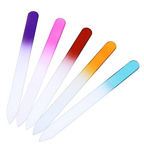 eBoot Cristal Vaso Limas de Uñas, 5 Piezas