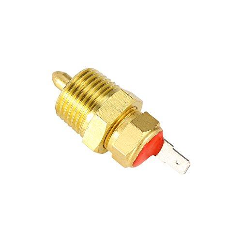 Interruptor del termostato del ventilador del radiador, oro Interruptor del ventilador de...