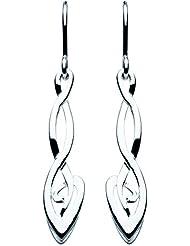 Heritage 6232 - Pendientes de mujer de plata, 3 cm