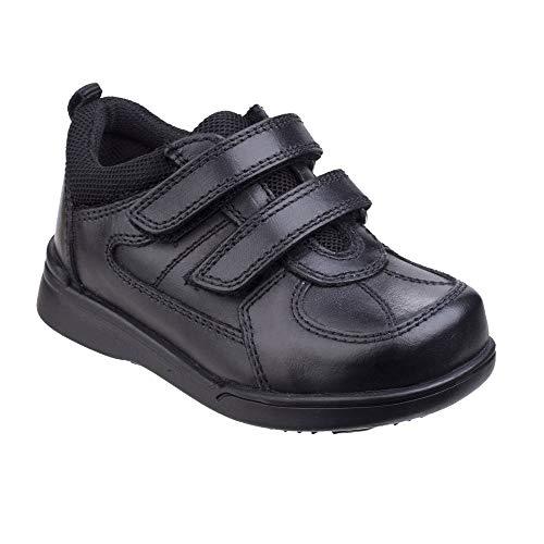 Hush Puppies Liam, Zapatos para Uniformes de Escuela para Niños, Negro, 32 EU