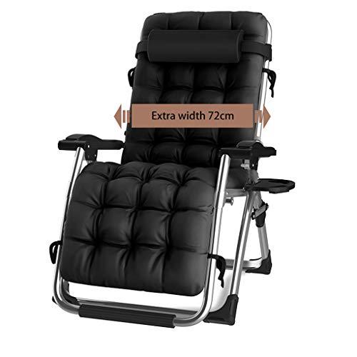 Maxibird sedia a sdraio con ombrellone zero gravity, sedie reclinabili con paralume regolabile regolabile con portabicchieri e poggiatesta per giardino da spiaggia (nero, grigio, marrone)