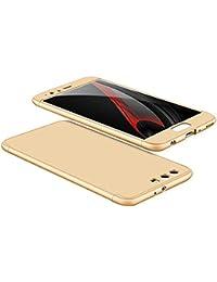 Carcasa Huawei P10, Qissy® 3 in1 Todo incluido Anti-Scratch Anti-huella dactilar a prueba de choque 360 PC Protective Case Cover Skin para Huawei P10/P10 Plus