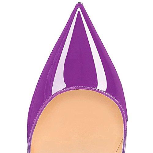 EDEFS - Scarpe col tacco Donna - 120mm Tacchi Alti - Scarpe col Tacco - Tacco a spillo - Scarpe da Donna Patent