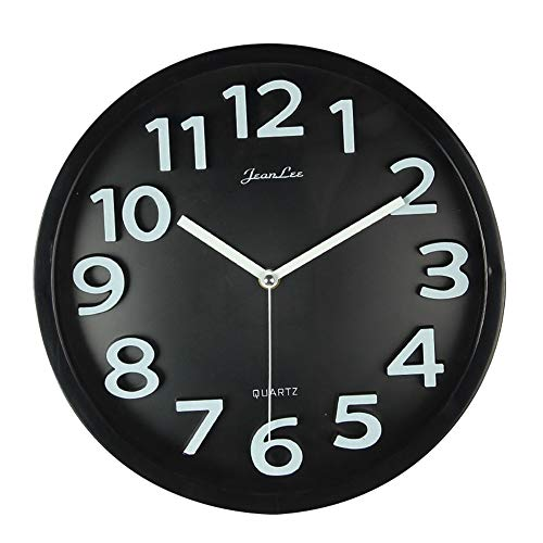 Reloj de Pared Art 3D de Cuarzo, Grande, Silencioso, 12 Pulgadas, con Diseño...
