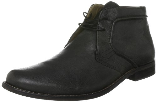 Hush Puppies Wordin - Chaussures Montantes - Homme Noir (Black Washed Leather)