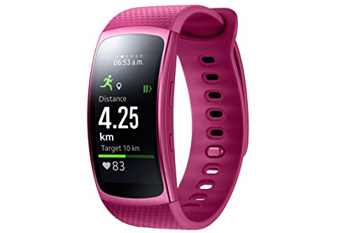 "Samsung Gear Fit II - Smartwatch de 1.5"" con frecuencia cardíaca y notificaciones, L, color rosa"