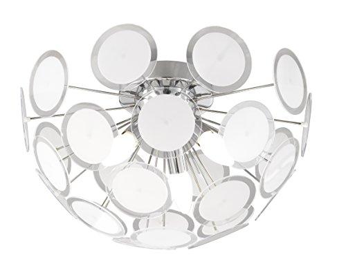 Trio-Leuchten 609000306 Deckenleuchte, 3 x E14 max. 40W, ø 45 cm, Chrom, Scheiben Kunststoff klar/satiniert -