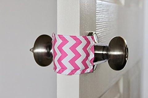 Latchy Catchy 3 Pack | Höre nie wieder, wie eine Tür zuschlägt (Pink Chevron) (Türdrücker Latch)