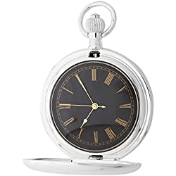 1St. Bulily Men Pocket watch silver AP-OTA-049