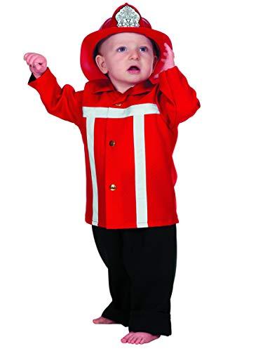 Generique - Feuerwehrmann Kostüm für Kleinkinder (Kleinkind Kostüm Feuerwehrmann)