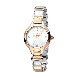 Just Cavalli Reloj Analógico para Mujer de Cuarzo con Correa en Acero Inoxidable JC1L033M0065
