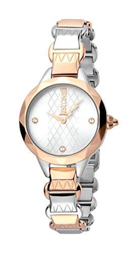 Just Cavalli Femmes Analogique Quartz Montre avec Bracelet en Acier Inoxydable JC1L033M0065
