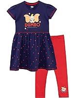 """Completo bambina vestito + leggings, Disney Dumbo. Porgi l'orecchio per ascoltare il più adorabile fra gli elefanti intorno a te. Il bellissimo vestitino blu della Disney vede ritratto Dumbo con la scritta """"Flying elephant"""" riprodotta poco pi..."""