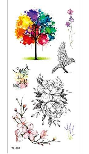 Arm Temporäre Tätowierung Aufkleber Farbige Kleine Baum