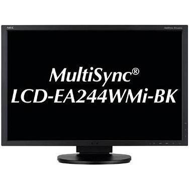 NEC MultiSync EA244WMi (24 inch) IPS LED Backlit LCD Monitor 1000:1 350cd/m2 1920x1200 5ms DisplayPort/HDMI/DVI-D (Black)