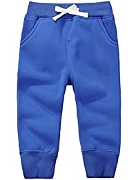 CuteOn Unisexo niños Elástico Cintura Algodón Calentar Pantalones Bebé Trousers Bottoms Varios Colores 1-5 Años