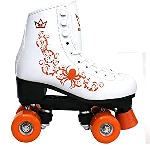 Kingdom GB Patins à roulettes Quad Vector Orange Enfant Taille 29