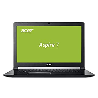 Acer Aspire 7 (A717-72G-76XN) 43,9 cm (17,3 Zoll Full-HD IPS matt) Multimedia/Gaming Notebook (Intel Core i7-8750H, 16 GB RAM, 256 GB PCIe SSD + 1000 GB HDD, GeForce GTX 1060, Win 10) schwarz