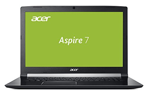 Acer Aspire 7 A717-71G-70Z6 43,9 cm (17,3 Zoll Full-HD IPS matt) Gaming Notebook (Intel Core i7-7700HQ, 16GB RAM, 256GB SSD, 1TB HDD, GeForce GTX 1060 6GB GDDR5 VRAM, Win 10) schwarz
