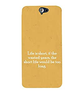 EPICCASE Life Quotes Mobile Back Case Cover For HTC One A9 (Designer Case)