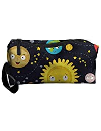 Lovely Space Lightweight Makeup Bag Organizer Case Travel Cosmetic Bags Pencil Case