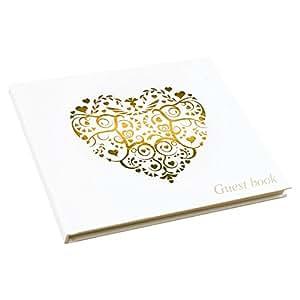 Neviti vintage Romance livre d'or, papier, Doré, 22x 19.5x 1.5cm