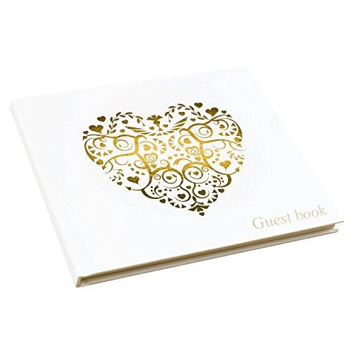 Neviti Libro de firmas para Invitados, Gama Vintage Romance, de Papel, Color...