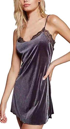 Damen Kleid Cocktailkleid Minikleid Trägerkleid Ärmelloses Mit  Spitzeneinsatz Zum Schnüren V Neck Rückenfrei Trägerlos Smooth Baggy