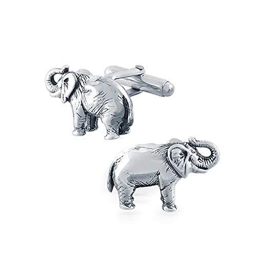 Elefant T-Shirt Manschettenknöpfe Für Herren Republikanische Partei Politisches Zeichen Sterling Silber Scharnier Zurück