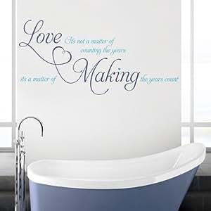 Love Sa pas une question de Sticker mural pour salon cuisine salle à manger Hall (x Grand)