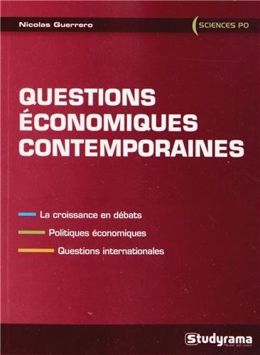 Questions économiques contemporaines