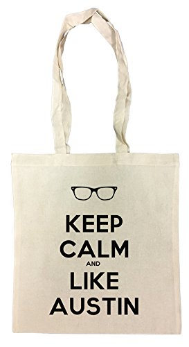 Erido Keep Calm and Like Austin Einkaufstasche Wiederverwendbar Strand Baumwoll Shopping Bag Beach Reusable
