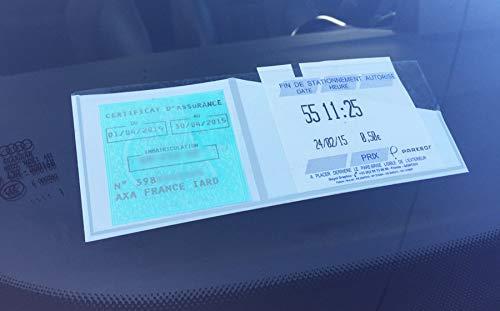 sans Senza 550020Porta Ticket di parcheggio e assicurazione, Bianco