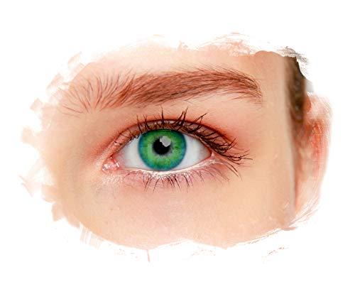 eyelee - Farbige Kontaktlinsen, Blau, Monatslinsen OHNE Stärke, hohe Deckkraft, angenehmes Tragegefühl, natürlicher Look, 2 Stück