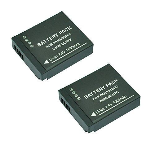 2X mondpalast@ Reemplazo 1000mah Batería BLH7E BLH7 para Panasonic Lumix DMC-GM1, DMC-GM1KS...