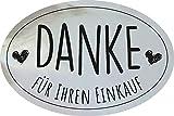 AVERY Zweckform 3844 Danke für Ihren Einkauf Etiketten auf Rolle, Geschenk Sticker selbstklebend (38 x 58 mm, im Spender, zuverlässig haftend, oval) 200 Aufkleber