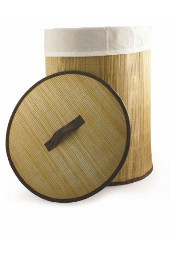 Galileo Casa 2166548 Panier à linge rond, bambou