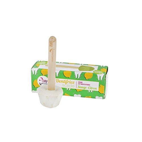 Lamazuna Feste Zahnpasta 17g Salbei Zitrone am Stiel /ätherische Öle der Bio-Zitrone und Salbei Pulver - Zitrone Zahnpasta
