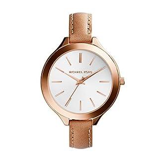 Michael Kors MK2284 – Reloj de cuarzo con correa de piel para mujer, color blanco